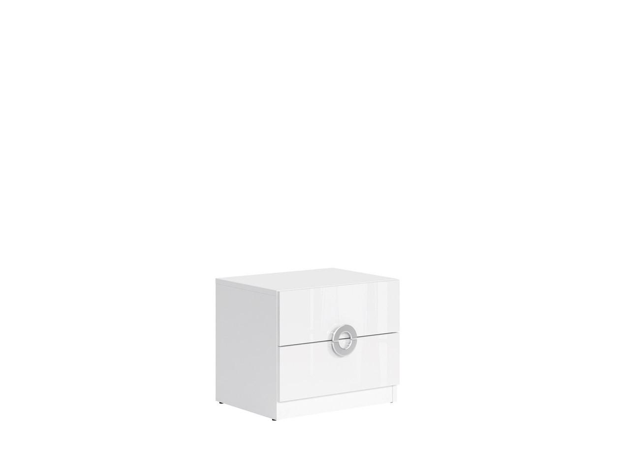 Тумба прикроватная KOM2S/5/4 Ringo BRW белый/белый глянец