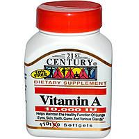 Витамин A, 21st Century Health Care, 10000 МЕ, 110 гелевых капсул