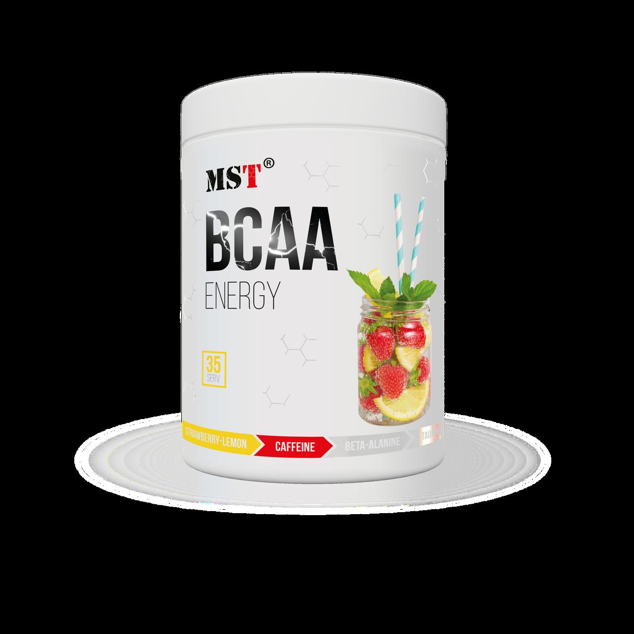 БЦАА MST BCAA Energy 315 грамм Клубника лимон