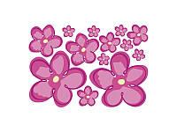 """Набор наклеек на фасады """"Цветы"""" Ringo BRW розовый"""