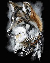 Картина по номерам Волчий профиль 40*50см Brushme Волк