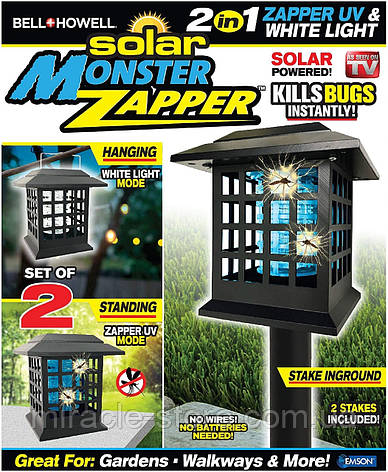 Solar Monater Zapper портативний знищувач комарів, фото 2