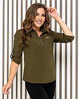 Блуза- рубашка  женская арт 828, цвет ХАКИ