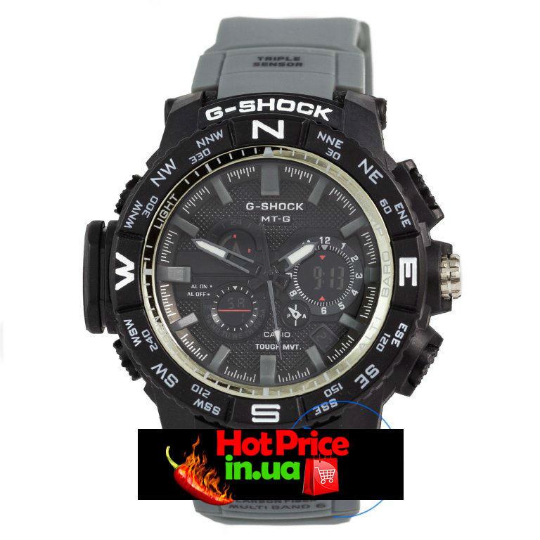 Годинник MTG-1000 Чорні з сірим ремінцем