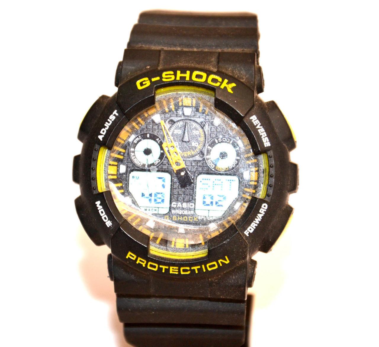 Наручний годинник WR20M Чорні з жовтим