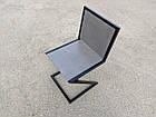 Сірий стілець для бару з металу і дерева, фото 6