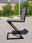 Сірий стілець для бару з металу і дерева, фото 7