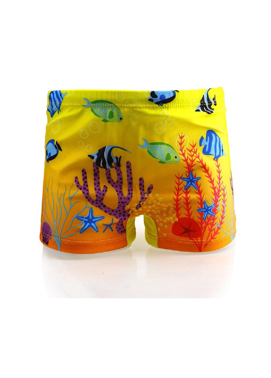 Плавки в басейн для мальчика принт Рыбы