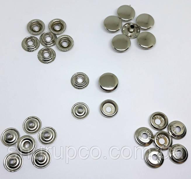 Кнопка 15 мм кільцева нікель НЕРЖ (50штук)