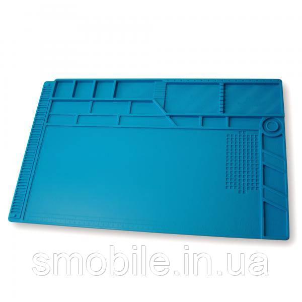 Килимок органайзер на робочий стіл S-180 550*350 мм (силіконовий, антистатичний, термостійкий)