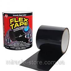 Скотч стрічка Flex Tape надміцна водонепроникна 10х150 см чорна, фото 3