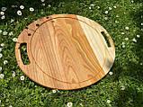 Дерев'яна менажниця піднос розбірний 40х50 см, фото 8