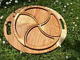 Дерев'яна менажниця піднос розбірний 40х50 см, фото 3