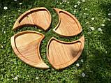 Дерев'яна менажниця піднос розбірний 40х50 см, фото 6