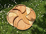 Дерев'яна менажниця піднос розбірний 40х50 см, фото 5