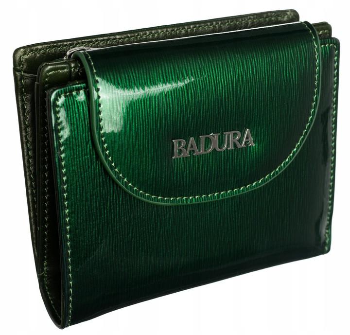Жіночий шкіряний гаманець Badura з RFID 9,5 х 11,5 х 3 (B-41373P-SH) - зелений