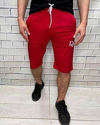Шорты мужские трикотажные Красного цвета на шнуровке Брендовые, фото 2