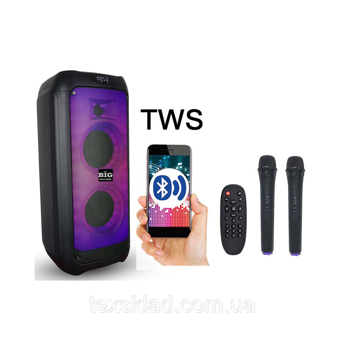 Портативна акустика JB500FLAME USB/MP3/BT/TWS/ 2 мікрофона