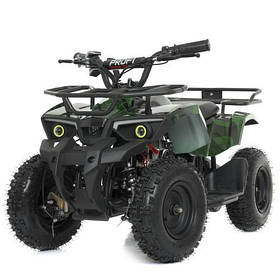 Дитячий квадроцикл (мотор 800W, 3акк12А/12V) Bambi HB-ATV800AS-10 Зелений камуфляж