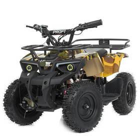 Дитячий квадроцикл (мотор 800W, 3акк12А/12V) Bambi HB-ATV800AS-13 Жовтий камуфляж