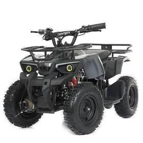 Дитячий квадроцикл (мотор 800W, 3акк12А/12V) Bambi HB-ATV800AS-19 Карбоновий