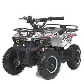 Дитячий квадроцикл (мотор 800W, 3акк12А/12V) Bambi HB-ATV800AS-2-3 Чорно-біло-червоний