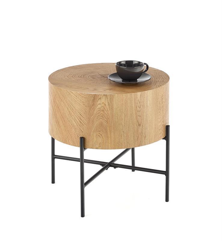 Журнальний стіл BROOKLYN-S дуб/чорний 45х45х45 (Halmar)