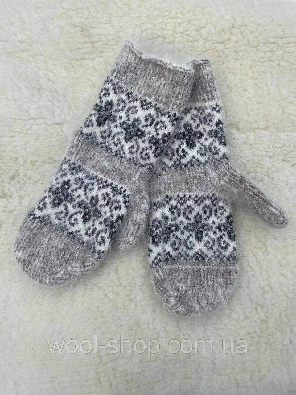 Жіноча рукавичка з козячого пуху без гумки