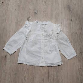 Блуза для девочки белая с воланами Primark р.80см