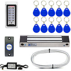 Уличный кодовый электромагнитный замок Электрозамок ЕМ350-ЕКВ комплект (3005)
