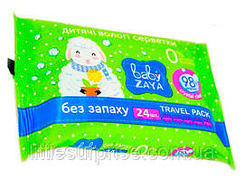 Влажные салфетки Baby Zaya, 24 шт Без запаха
