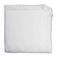 """Плед-одеяло """"Ажур"""" Велюр, кулир Белый 80х90 см."""
