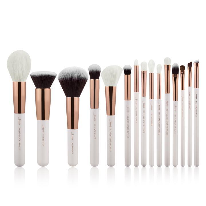 Профессиональный набор кистей для макияжа Jessup 15 штук