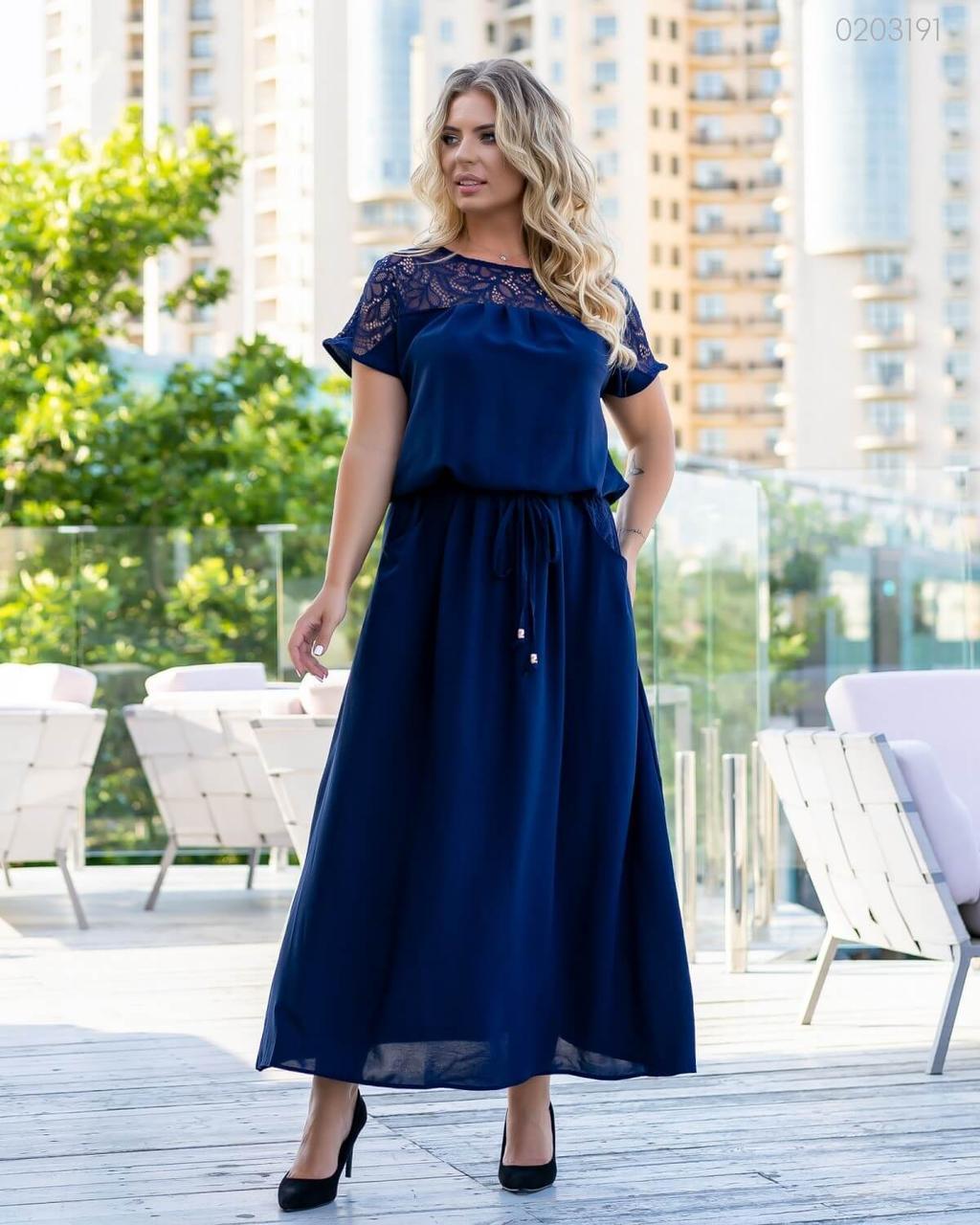 Платье Верона (синий) 0203191