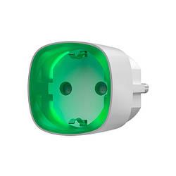 Радіокерована розумна розетка Ajax Socket white з лічильником енергоспоживання