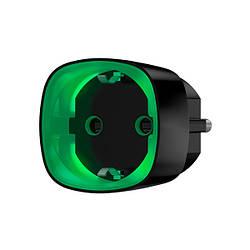 Радіокерована розумна розетка Ajax Socket black з лічильником енергоспоживання