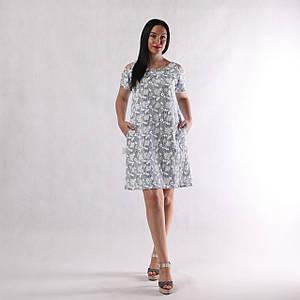 """Жіноче літнє плаття """"Наташа-Пінка р. тільки 56 ( 3 шт)"""