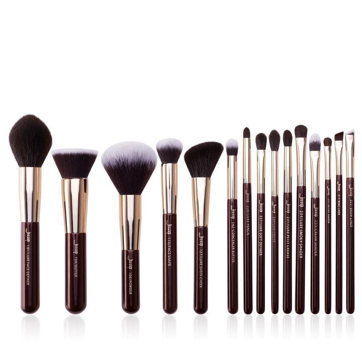 Кисти для макияжа профессиональные Jessup 15 штук / кисти для визажиста