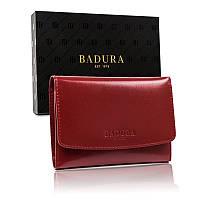 Жіночий шкіряний гаманець Badura з RFID 10 х 14 х 2,5 (PO_D110CR_CE) - червоний, фото 1