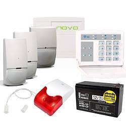 Комплект охранной сигнализации с Orion NOVA XS, клавиатурой, датчиком движения, герконом, сиреной,