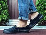Мужские кеды Vans (черные) B10572 удобная легкая обувь без шнурков, фото 4