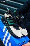 Мужские кроссовки Adidas Equipment (черно-зеленые) KS 1644 спортивная качественная легкая обувь, фото 3