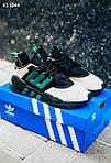 Мужские кроссовки Adidas Equipment (черно-зеленые) KS 1644 спортивная качественная легкая обувь, фото 6