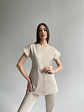 """Куртка медична """"Саті"""". Білий. Рукав короткий. Саталь, фото 3"""