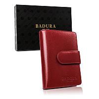 Жіночий шкіряний гаманець Badura з RFID 14 х 9 х 3 (PO_D099CR_CE)  - червоний, фото 1