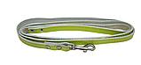 КР2341-39 Поводок Lux прошитый(кожа)12мм/140см, зеленый/зенит/лак, фото 2