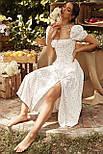 Приталенное платье по фигуре цветочное с акцентом на груди и коротким рукавом (р. S-M) 68032680, фото 4