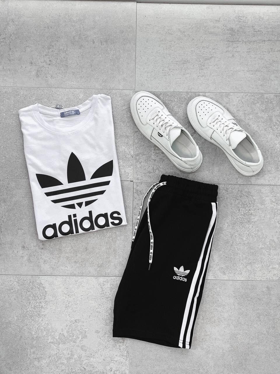 Чоловічий спортивний костюм Nike (чорно-білий) А6507 модний одяг