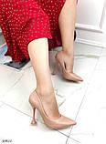Жіночий класичні туфлі Christian Louboutin на шпильці, каблук чарочка бежеві чорні, фото 4