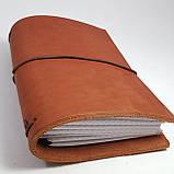 Блокнот коричневый мидори Midori      А6 кожаный   натуральная кожа ;жесткая кожа, фото 6
